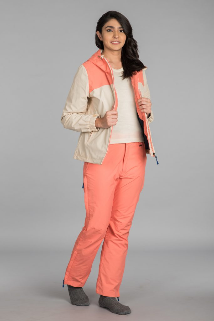 Kosha Hardshell Hiking Pant for Women Beige & Coral