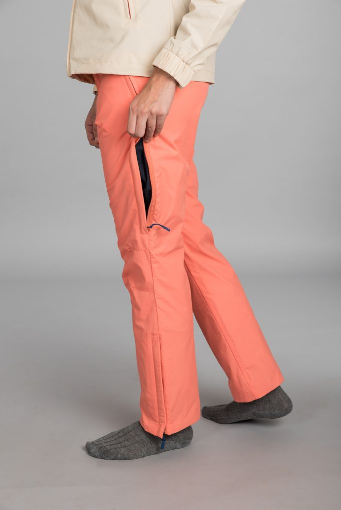 Kosha Hardshell Pant for Women with Thigh Vent Zips for Ventilation and Breathability