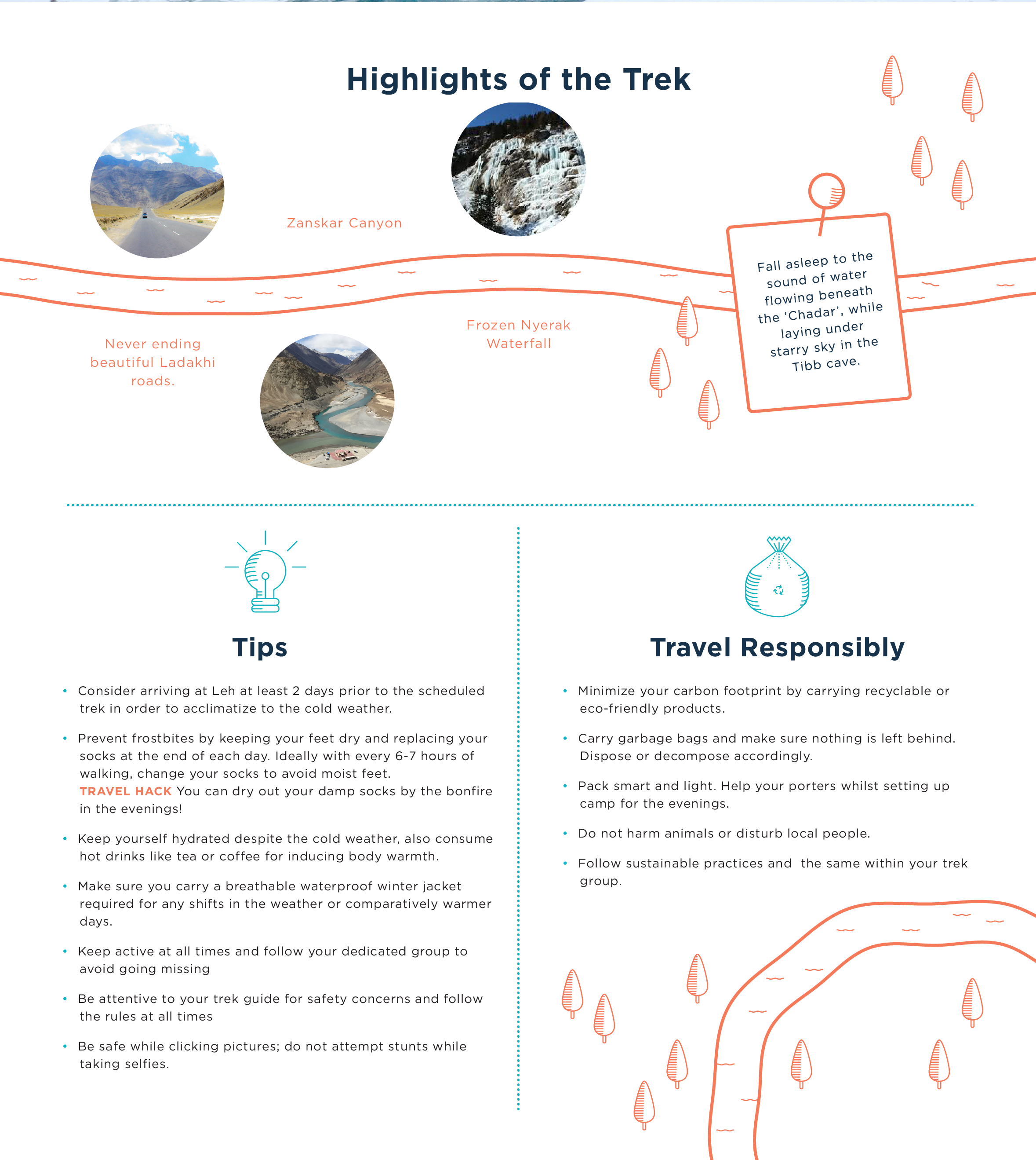 Highlights of the trek and how can you travel responsibly