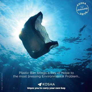 Kosha Urges you to Carry your Own Bag - Avoid Plastic bag and Save Nature