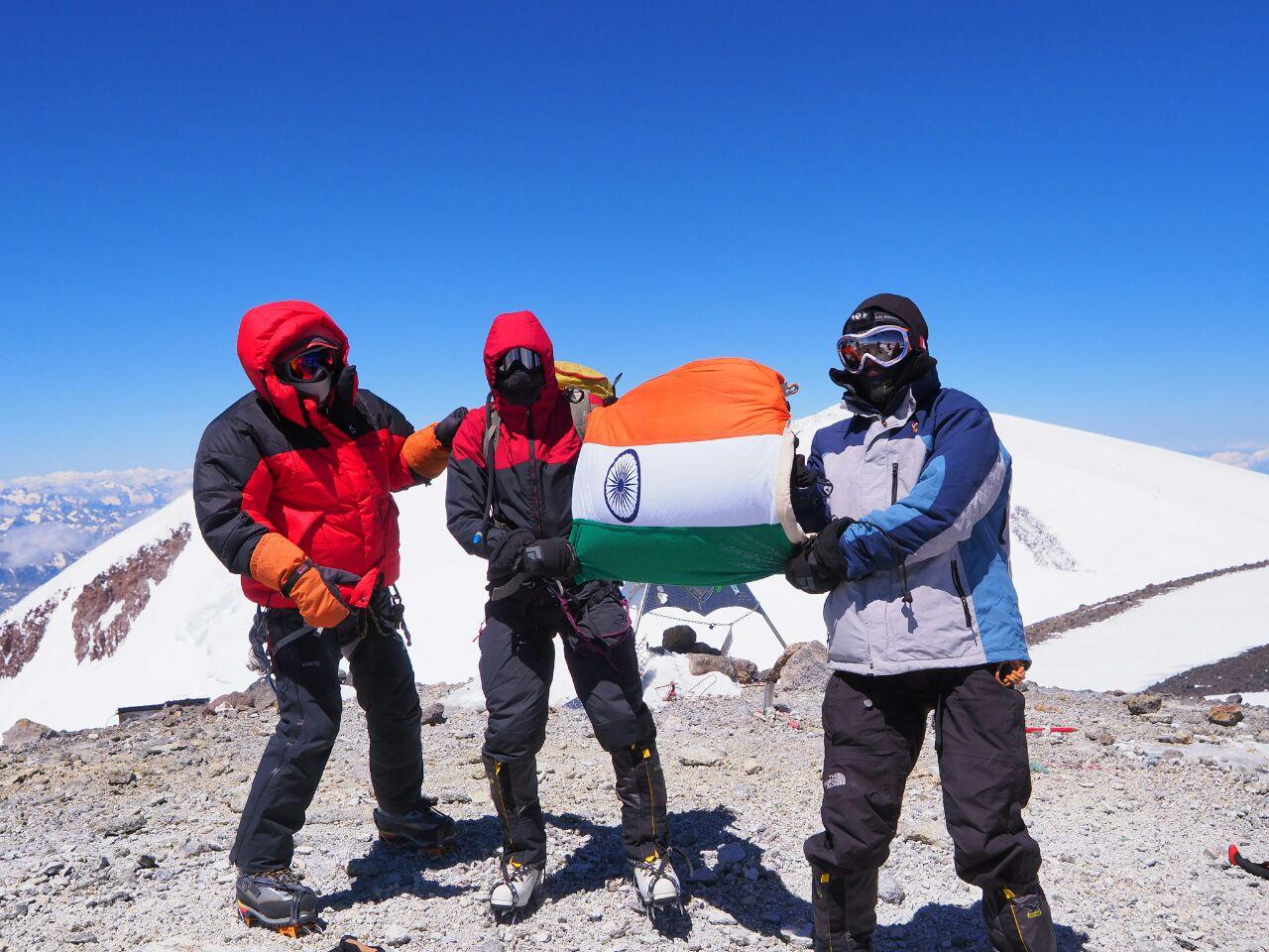 Jayesh scaling Mt. Elbrus!