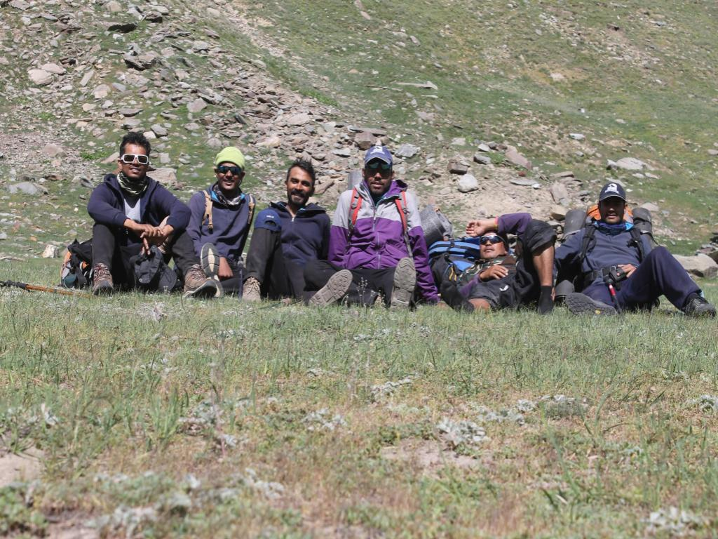 The team which scaled Mt. CB-13